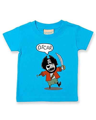Ice-Tees Captain Hook Pirate - Camiseta personalizada para bebé/niños - Correo electrónico con el nombre que quieres Turquesa turquesa 2-3 Años