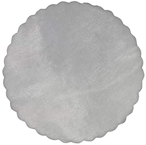 Nonsoloconfetti 100 Pz. Velo VELI di Fata Tulle Organza Tondo VELETTI BOMBONIERE Fai da Te Confetti (Bianco)