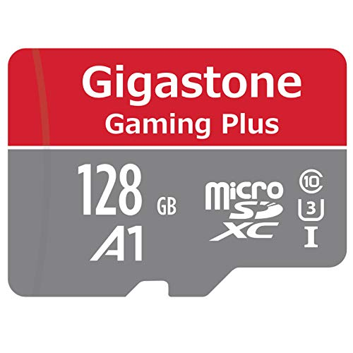Gigastone 128GB Micro SD Card, Gaming Plus, Nintendo Switch Compatible, High Speed 100MB/s, 4K Video Recording, Micro SDXC UHS-I A1 Class 10