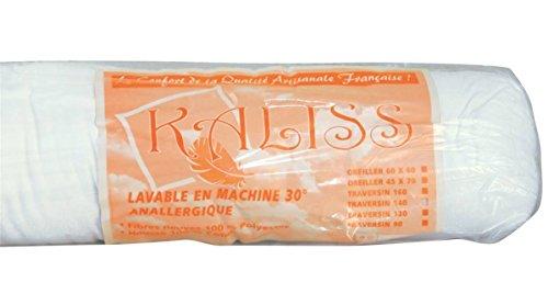 Le linge de Jules Traversin Anallergique - 160 cm - Fabrication Française - 500Gr/m2