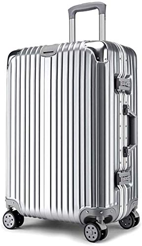 XKstyle Customized Aluminum Frame Suitcase Trolley Luggage Suitcase 20 Inches For Men And Women Students Caster Password Box (size: 22Inch24Inch)