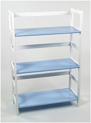 Lipper International Child's Bookcase, Blue and White
