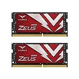 TEAMGROUP T-Force Zeus DDR4 SODIMM 32GB (2x16GB) 3200MHz (PC4-25600) 260 Pin CL16 Laptop OC Memory Module Ram - TTZD432G3200HC16FDC-S01