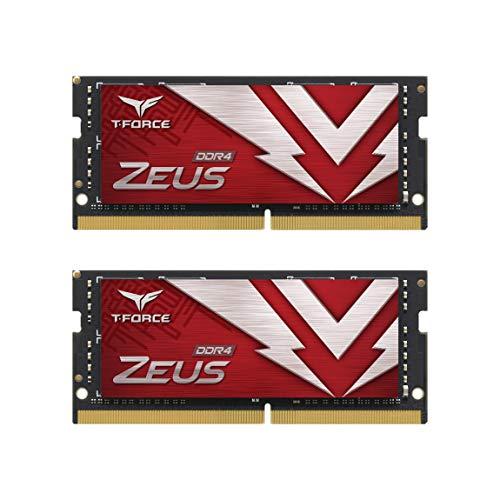 TEAMGROUP T-Force Zeus DDR4 SODIMM 32GB (2x16GB) 3200MHz (PC4-25600) 260 Pin CL16 Laptop Memory Module Ram - TTZD432G3200HC16FDC-S01
