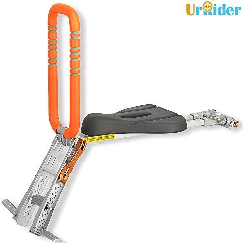 UrRider Child Bike Seat, child bike carrier ,toddler bike seat,Foldable & Ultraligeht for Cruiser/Foldable/ City Shared Bikes, Baby Kids' Bicycle Carrier Handrail (Orange)