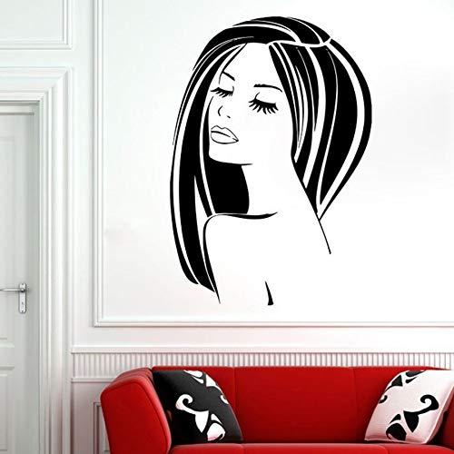 Tianpengyuanshuai Meisjes Muurtattoo Vinyl sticker schoonheidssalon Lippen dames lang haar woonkamer ontwerp