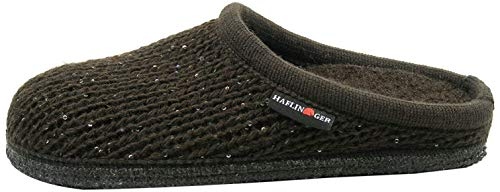 HAFLINGER 611087 Walktoffel Uni Pantofole Unisex Adulto, Numero:38 EU, Colore:Marrone