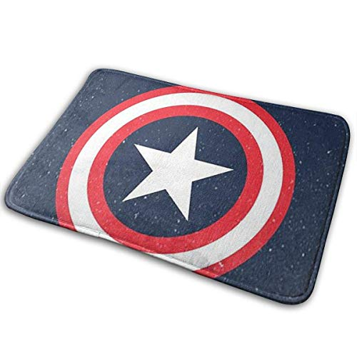 N\A Upphome Teppiche Velveteen Badteppiche Rutschfester Teppich Teppich Mikrofaser Absorbent Maschinenwaschbarer Boden Akzent Teppich für Bedside Throw Mat-Captain America
