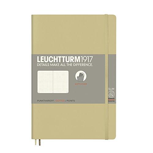 LEUCHTTURM1917 358324 Notizbuch Paperback (B6+), Softcover, 123 nummerierte Seiten, dotted, Sand