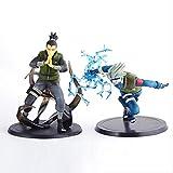 Yangzou 2 Piezas 13 Cm Japón Anime Naruto Nara Shikamaru Y Kakashi Figuras Juguetes PVC Figura De Ac...
