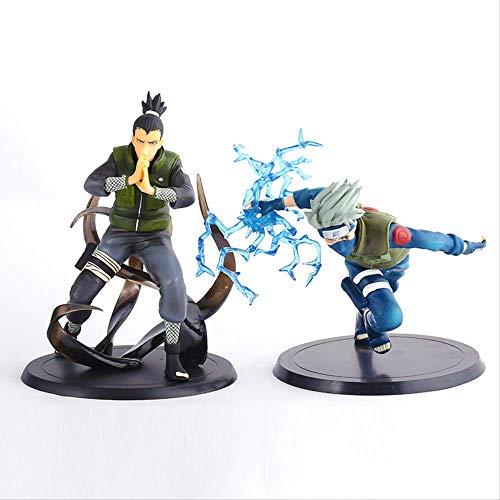 Yangzou 2 Piezas 13 Cm Japón Anime Naruto Nara Shikamaru Y Kakashi Figuras Juguetes PVC Figura De Acción Modelo Coleccionable Muñecas De Juguete