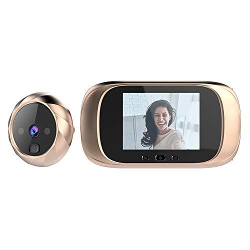 Winnes digital dörrspion 3,5 tum TFT LCD-skärm dörr sysselsättare med hög pixel hålskamera med nattsikt vidvinkel video skiva foto dörrklocka home Security kamera TB518