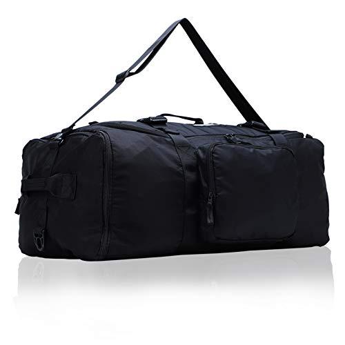 MIER Expandable Cargo Duffel Foldable Lightweight Sports Equipment Bag, 120L, Black