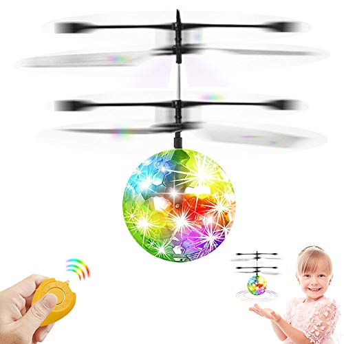 CPSYUB Flying Ball Toys, Boys Toys Age 8, RC Helicopter Toys for 5, 6, 7, 8, 9, 10, 11, 12, 13 Year Old Boys Girls Rechargeable Light Up Drone, Easy Indoor Game Flying Ball Drone for Kids Toys Gifts