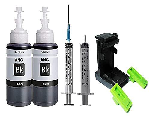 ANG Refill for HP 803Iink cartridge 200ml with Suction tool for HP Printer Cartridges 803, 805, 682, 802, 678, 901, 818, 21, 22, 680, 27, 703, 704, 685, 862, 920, 808, 960 Single Color Ink (Black)