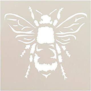 Bee Stencil by StudioR12   Reusable Mylar Template   Use for Painting Wood, Fabric, Furniture   DIY Shabby Chic, French, Home Decor   CHOOSE SIZE (6