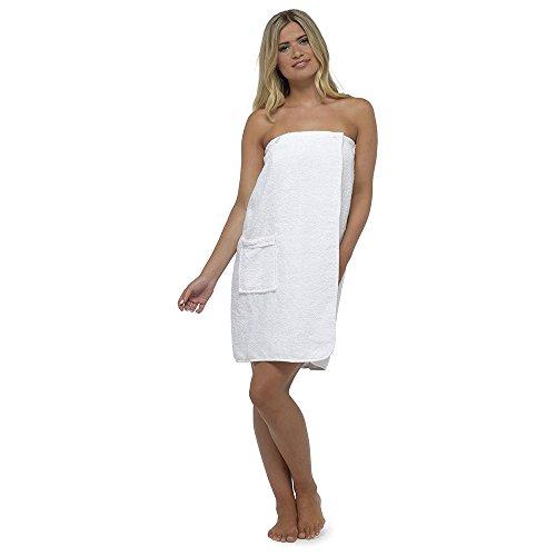 Asciugamano da donna, telo pareo in 100% cotone, altamente assorbente, in morbida spugna, per doccia, spa, sauna, spiaggia, palestra, 100% cotone, bia