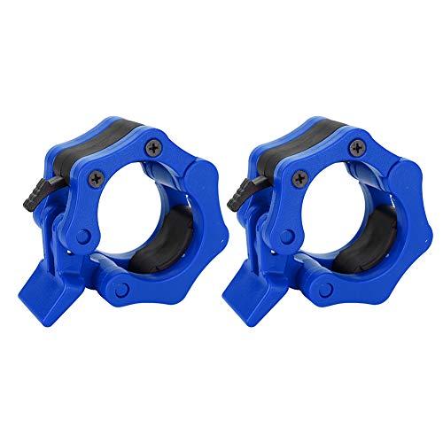 Fockety Abrazadera de cuello para mancuernas, 2 clips de cuello de plástico ABS para entrenamiento profesional (azul)