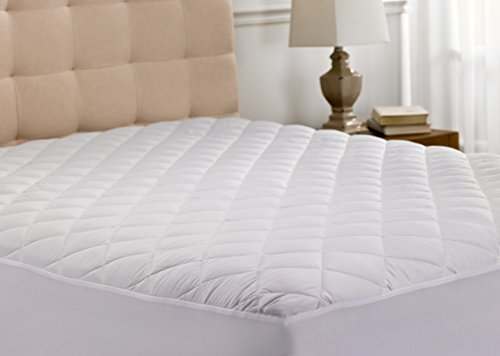 Hanna Kay Hypoallergenic Quilted Stretch-to-Fit Mattress Pad, 10 Year Warranty-Clyne Collection (Twin)