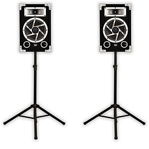 Acoustic Audio GX-450 DJ Speakers & Stands 2-Way for PA Karaoke Home Audio