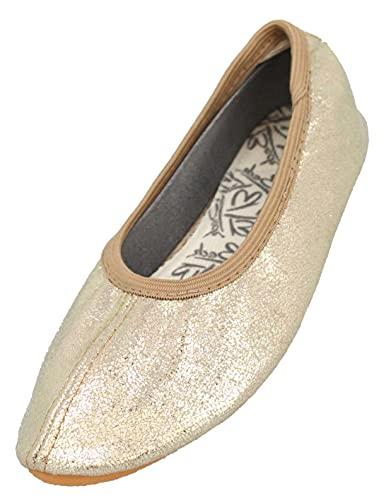 Beck Basic, Zapatillas de Gimnasia Niñas, Dorado (Gold 14), 32 EU