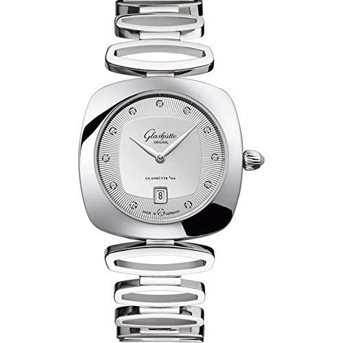 Glashutte Women's Steel Bracelet Case Swiss Quartz Silver-Tone Dial Analog Watch 1-03-01-10-12-14