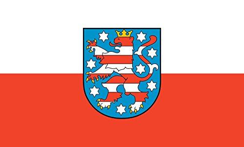 Unbekannt magFlags Tisch-Fahne/Tisch-Flagge: Thüringen 15x25cm inkl. Tisch-Ständer