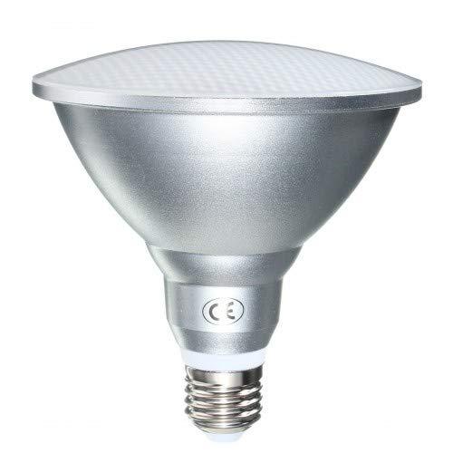 JQslight Bombilla de 15 W PAR38 LED E27, IP65, resistente al agua,...