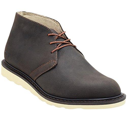 Golden Fox Enzo Men's Chukka Boot Casual Workboots Dk Brown 10