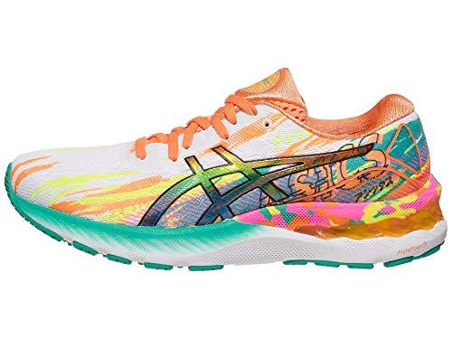ASICS Women's Gel-Nimbus 23 Running Shoes, 10.5M, HOT Pink/Sour Yuzu