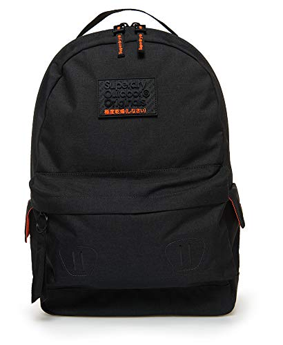 Superdry Hollow Montana Backpack in Black Marl