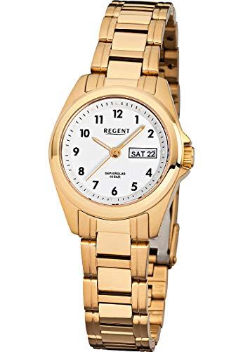 Regent Damen-Uhren Analog Quarz One Size Edelstahl 87665003