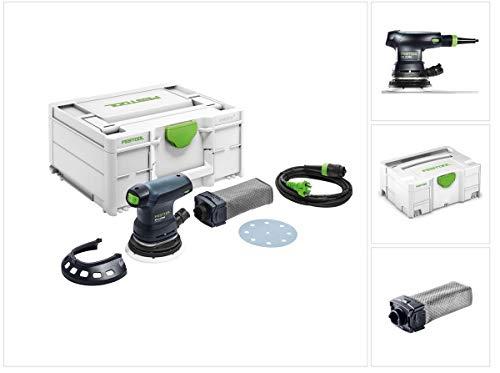 Festool ETS 125 REQ-Plus Exzenterschleifer 250W 2mm Hub 125mm im Systainer + Zubehör (574636) + extra Staubfangbeutel