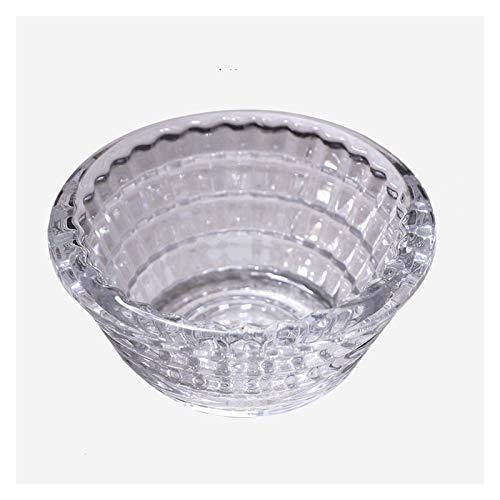 Cenicero Cenizas de ceniza de vidrio para el hogar Sala de estar de la oficina Cenoso de cristal transparente Cenicero de cristal de 3 pulgadas Bandeja de ceniza portátil (transparente / ámbar / gris)