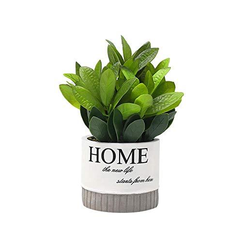 Haodou. Adorno artificial en maceta con forma de pino, bonsái, decoración del hogar