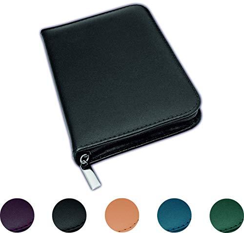 Homöopathie Taschenapotheke Klassik mit 64 Klargläsern Leder schwarz für Globuli