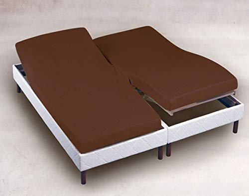 Alpes Blanc Drap Housse 2x70x190 Chocolat TPR