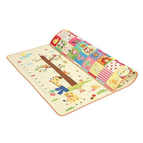 HHTC Tappeti gioco, a buon mercato tappeti gioco, 180x200 cm bambino Mat 1,5 cm Spessore del fumetto XPE del gioco del capretto Mat pieghevole antiscivolo Carpet bambini della stuoia del gioco