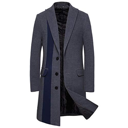 Deelin mantel, herfst, winter, warm, heren, trenchcoat, modieus, eenvoudige knoopsluiting, hoge kwaliteit, slim fit blazer, lange mantel, wollen mantel, grijs, vintage stijl, Britse stijl