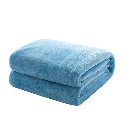 Mixibaby Kuscheldecke Flauschige extra weich und warm Wohndecke Flanell Fleecedecke, Falten widerstandsfähig/Anti-verfärben als Sofadecke oder Bettüberwurf, Größe:150 cm x 200 cm, Farbe:Blau
