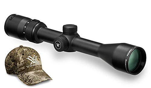 Vortex Optics Diamondback 4-12x40 Second Focal Plane Riflescope - Dead-Hold BDC Reticle (MOA) with Baseball Hat, Black, DBK-04-BDC & Hat