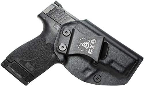 CYA Supply Co. Fits S&W M&P 9/40 Shield M2.0 Inside Waistband Holster Concealed Carry IWB Veteran Owned Company (Black, 053- S&W M&P 9/40 Shield M2.0)