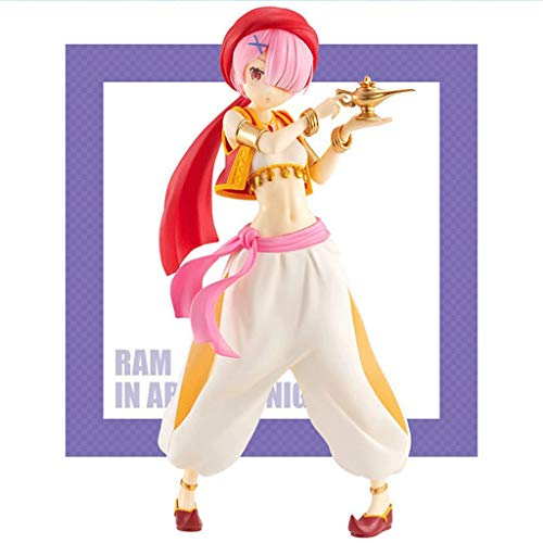 LIKEFLY Re Zero Starting Life in Another World : Ram in Arabian Night Action Figure PVC Statue -High 21cm from Anime Gifts Collection Home Decoration Masterpiece Figure anmie image