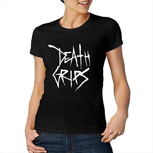 Death Grips Logo Moda para Mujer y para Mujer Deportes Confort Cuello Redondo Camiseta de Manga Corta Mediana