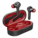 Wireless Earbuds, Mpow M9 4-mic Noise Cancelling CVC 8.0 Bluetooth 5.0 Earphones in-Ear, Touch Control Stereo Bass Sports Headphones, 40H Playing Time/USB-C/IPX8 Waterproof, Single/Twin Mode, Red
