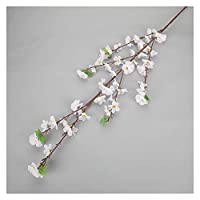 アートフラワー 人工桜の木のピンクのさくらの枝シルク120cm diy造花花の壁の結婚式の装飾ホーム屋外の装飾 (Color : SMTTHZ002)