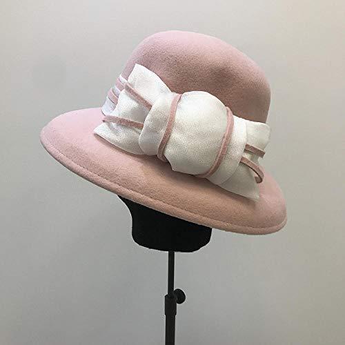 capswhh 2019 herfst en winter Europese elegante temperament vrouwelijke mesh garen boog retro lampenkap hoed visser hoed basin hoed mode vilten hoed