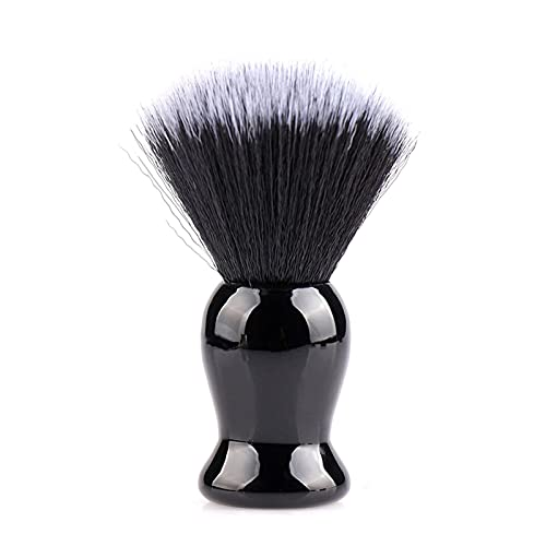 シェービングブラシ ひげブラシ 純粋なバッガーヘアシェービングブラシ 髭剃り 泡立ち 洗顔ブラシ メンズ 10.5 x 3.5cm