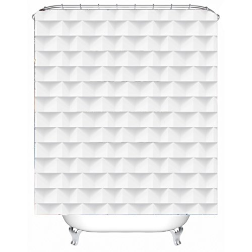 AI XIN SHOP Badezimmer- 3D-Jalousien Premium Wasserdichtes Mildew-resistentes Anti-Bakterien-Polyester-Bad-Duschvorhang, Haken inklusive (größe : 2 * 2m)