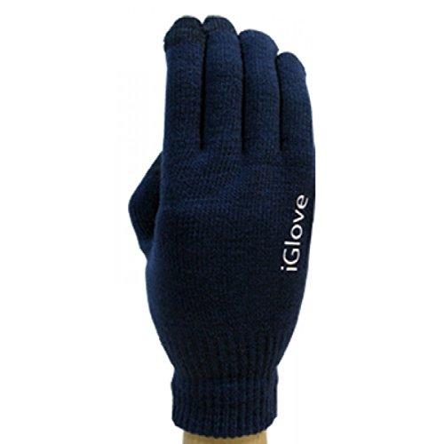 RCGOODS l Universale Touchscreen Handschuhe für alle Smartphones (One Size) (Dunkelblau)